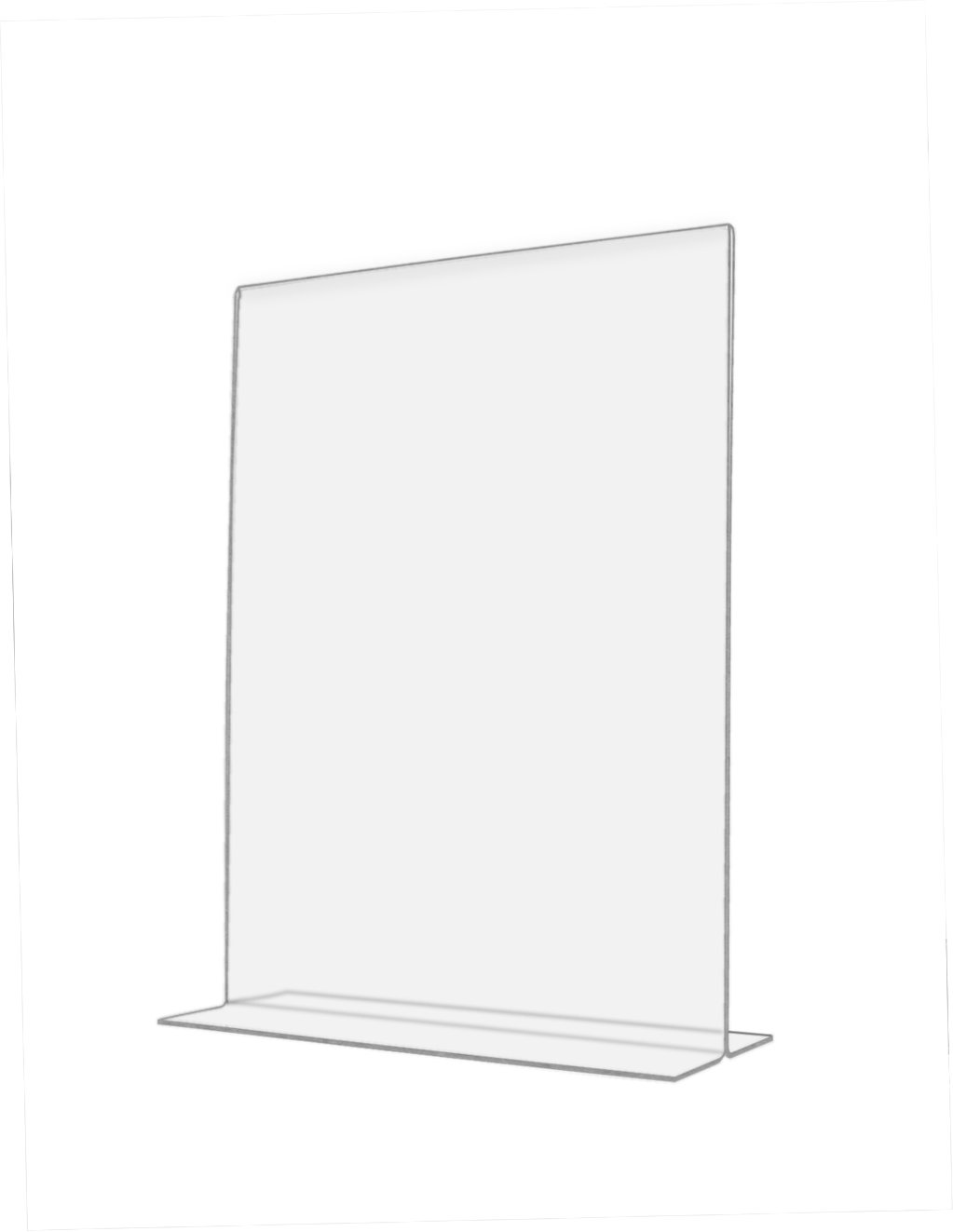 "Marketing Holders Clear Acrylic 6""W x 8""H Bottom Loading, Double-sided Table Sign Holder for Restaurants, Retail Stores and Offices (24, 8.5 x 11) by Marketing Holders (Image #1)"