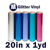 Glitter Heat Transfer Vinyl 20'' x Yard (Gold)