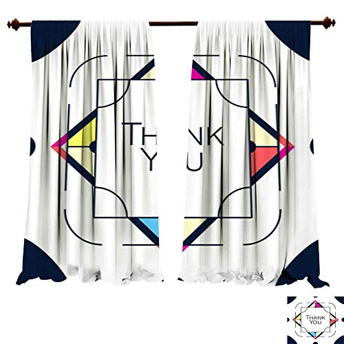 (DragonBuildingMaterials Curtains for Bedroom Thank You Greeting Card Thanksgiving Design Abstract Geometric Elements Layout Template Card Invitation brochure Flyer cov Window Treatments for Kitchen)