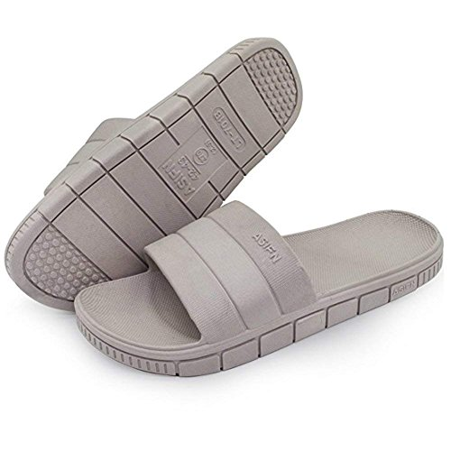 Para Sandalia Zapatillas Mujer A Unisex Ducha De toe Planos Gris Hombre Minetom Espuma Antideslizantes hombre Piscina mujer Zapatos Peep Playa Cuarto Baño g4wpWPqx