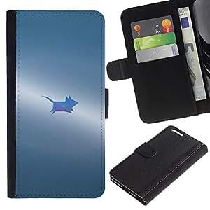 "WINCASE (No Para IPHONE 6, 4.7"") Cuadro Funda Voltear Cuero Ranura Tarjetas TPU Carcasas Protectora Cover Case Para Apple Iphone 6 PLUS 5.5 - gris pequeño lindo pintado"