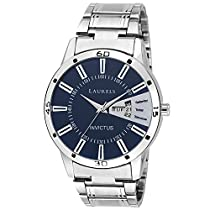Laurels Lo-ess-203 Analog Blue Dial Men's Watch-Lo-Ess-203