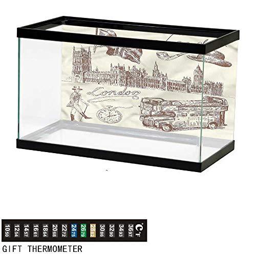 Amazon com : Suchashome Fish Tank Backdrop London, National