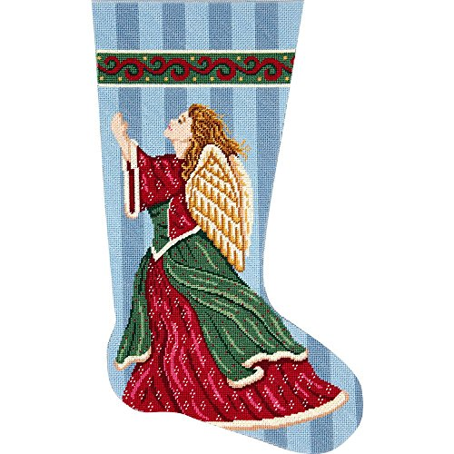 (Alice Peterson Home Creations Holiday Edition Needlepoint Stocking Kit-- Angel in Praise- Large, Deluxe Size)
