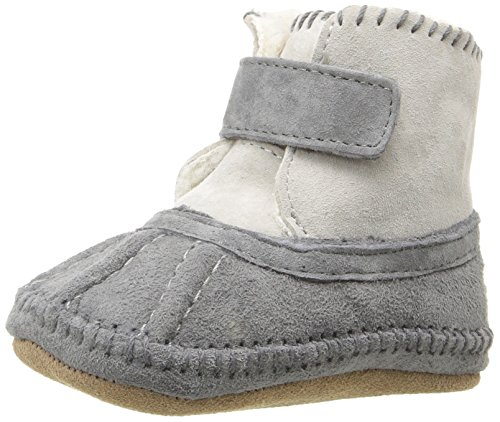 Robeez Girls' Galway Cozy Bootie Boot, Grey, 12-18 Months M US Infant