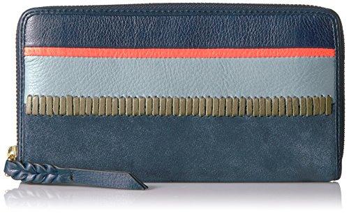 Fossil Caroline Rfid Zip Around Wallet Navy Multi Stripe Wallet by Fossil