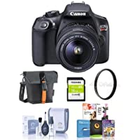 Canon EOS Rebel T6 Digital SLR Camera Kit with EF-S 18-55mm f/3.5-5.6 IS II Lens - Bundle With Camera Case, 16GB SDHC Card, Cleaning Kit, 58mm UV Filter, Software Package