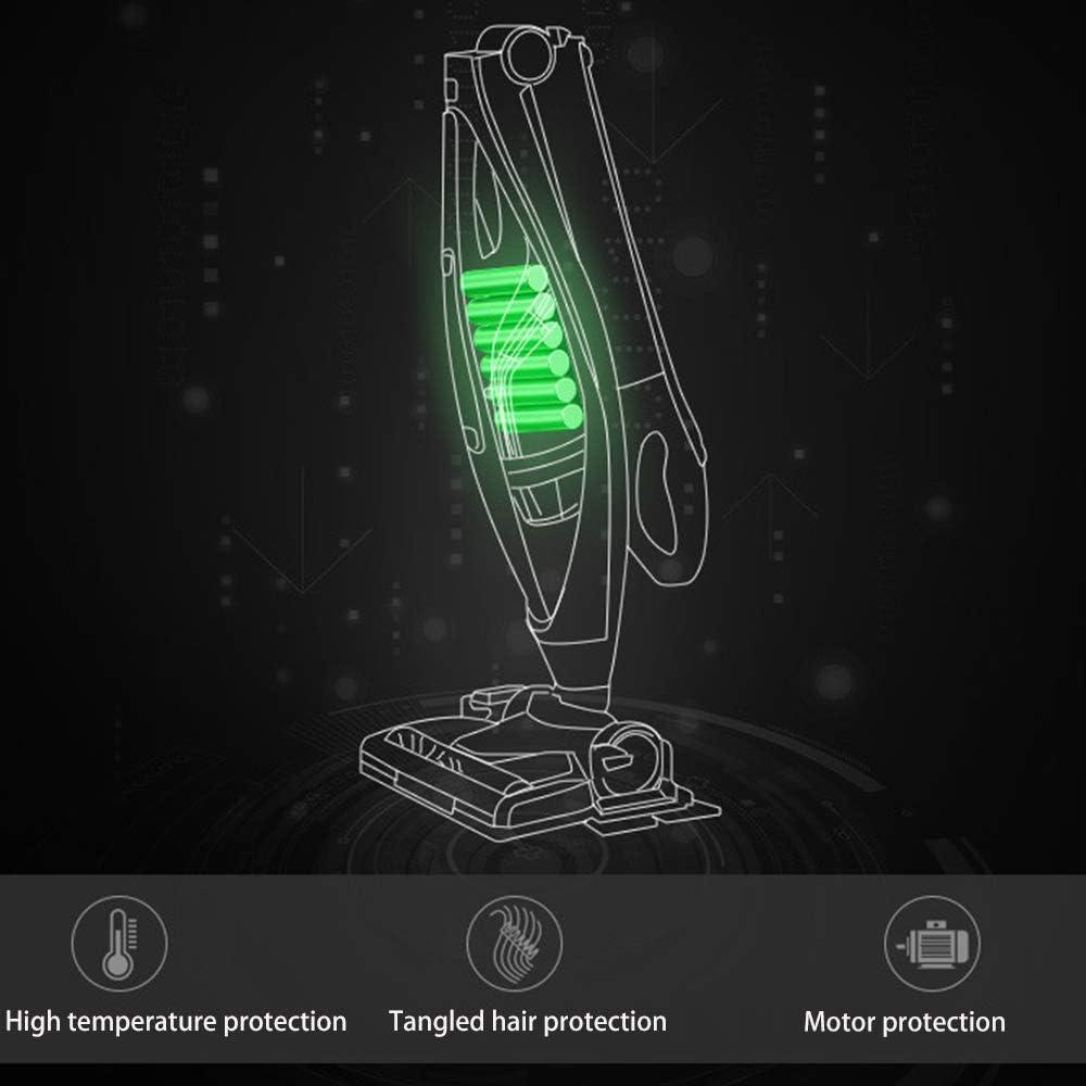 Aspirateur Balai Vertical, Aspirateur 3 en 1, Tenu dans La Main Forte Puissance D\'aspiration, avec Réservoir d\'eau LED Lumière sans Fil Aspect Mode Pliable, Filtre sans Sac,3 3