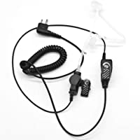 HYS Police Earpiece with Kevlar Reinforced Cable for Motorola Radio BPR40 CP200 CP200D CP200XLS CP110 CP185 DTR650 PR400 EP450 CLS DLR DTR RDX RDU RDV RMU RMV, Acoustic Tube Surveillance Headset
