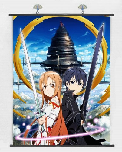 Home Decor Japanese Anime Wall Scroll Anime Poster Sword Art Online 24 *32