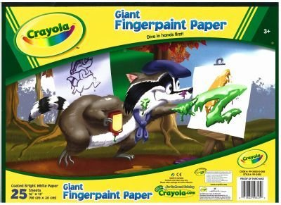 Giant Finger Paint Paper Pad 30 pcs sku# 904089MA by Crayola