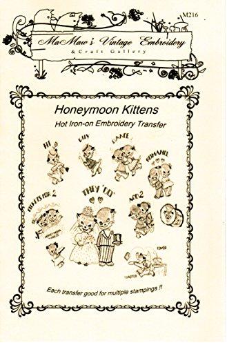 - Honeymoon Kittens Hot Iron Embroidery Transfers