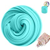 (US) SLOUEASY Ocean Blue Fluffy Slime With Foam Beads, Non-sticky Jumbo Floam Slime Stress Relief Toy Scented DIY Putty Sludge Toy for Girls and Boys(7 oz)