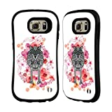 Official Monika Strigel Wolf Animals And Flowers 2 Hybrid Case for Samsung Galaxy S6