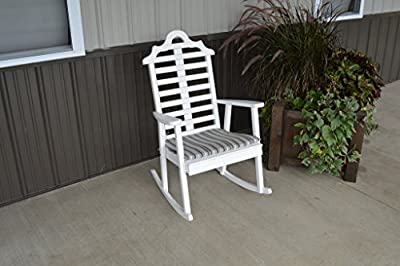 Pine Country Outdoor Marlboro Porch Rocker Amish Made USA- White Paint