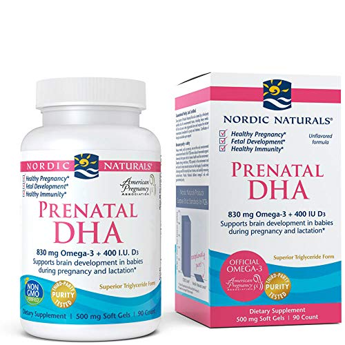 Nordic Naturals - Prenatal DHA, Supports Brain Development in Babies During Pregnancy and Lactation, 90 Soft Gels (FFP) (The Best Dha Supplement)