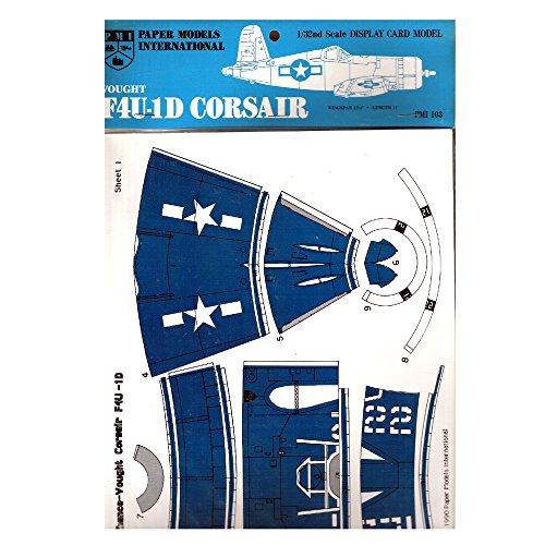 1990 PMI Paper Models International Vought F4U-1D Corsair Display Card Model