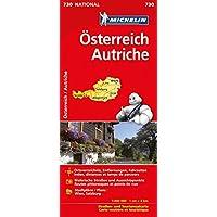 Michelin Österreich: Straßen- und Tourismuskarte 1:400.000 (MICHELIN Nationalkarten, Band 730)