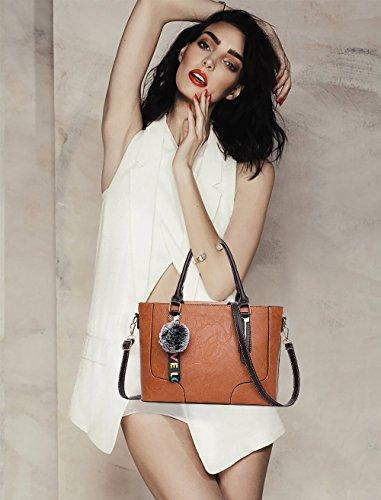 Pu Shoulder Fashion Yellow Lady Leather Casual Bags Handbag Bag Tisdaini ZqF1xX0