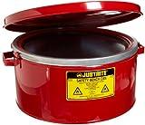 "Justrite 10775 3 Gallon, 6"" H, 13 1/2"" O.D, 12 1/8"" Diameter 24 Gauge Premium Coated Steel Bench Can"