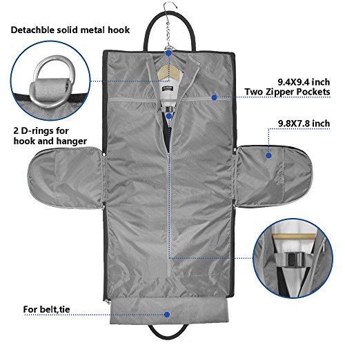 Two-In-One Convertible Travel Garment Bag Carry On Suit Bag, Easily Transforms Into a Sports Duffel by GYSSIEN (Image #1)