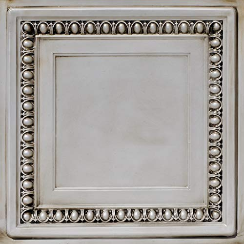 From Plain To Beautiful In Hours DCT06aw-24x24-25 Cambridge Ceiling Tile Antique White 25