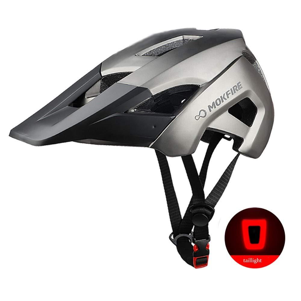 ZXASDC Casco Bicicleta, 52~60cm Casco Luz de la Cola Bicicleta de Carretera Protección de Seguridad Ajustable Deporte Ligera para Montar Bicicleta BMX Scooter Skate, Unisexo: Amazon.es: Hogar