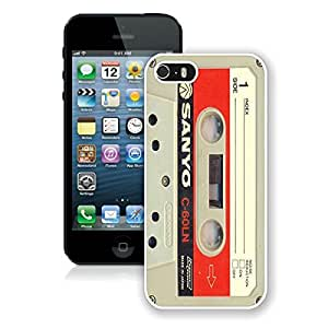 FAGUO Audio Cassette iPhone 5 5S Case White Cover 2 Nice GiftS cell phone cases