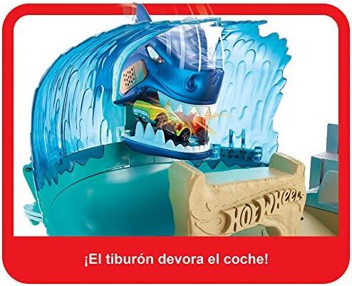 Hot Wheels Tiburón Megadestrucción, pista de coches de juguete ...