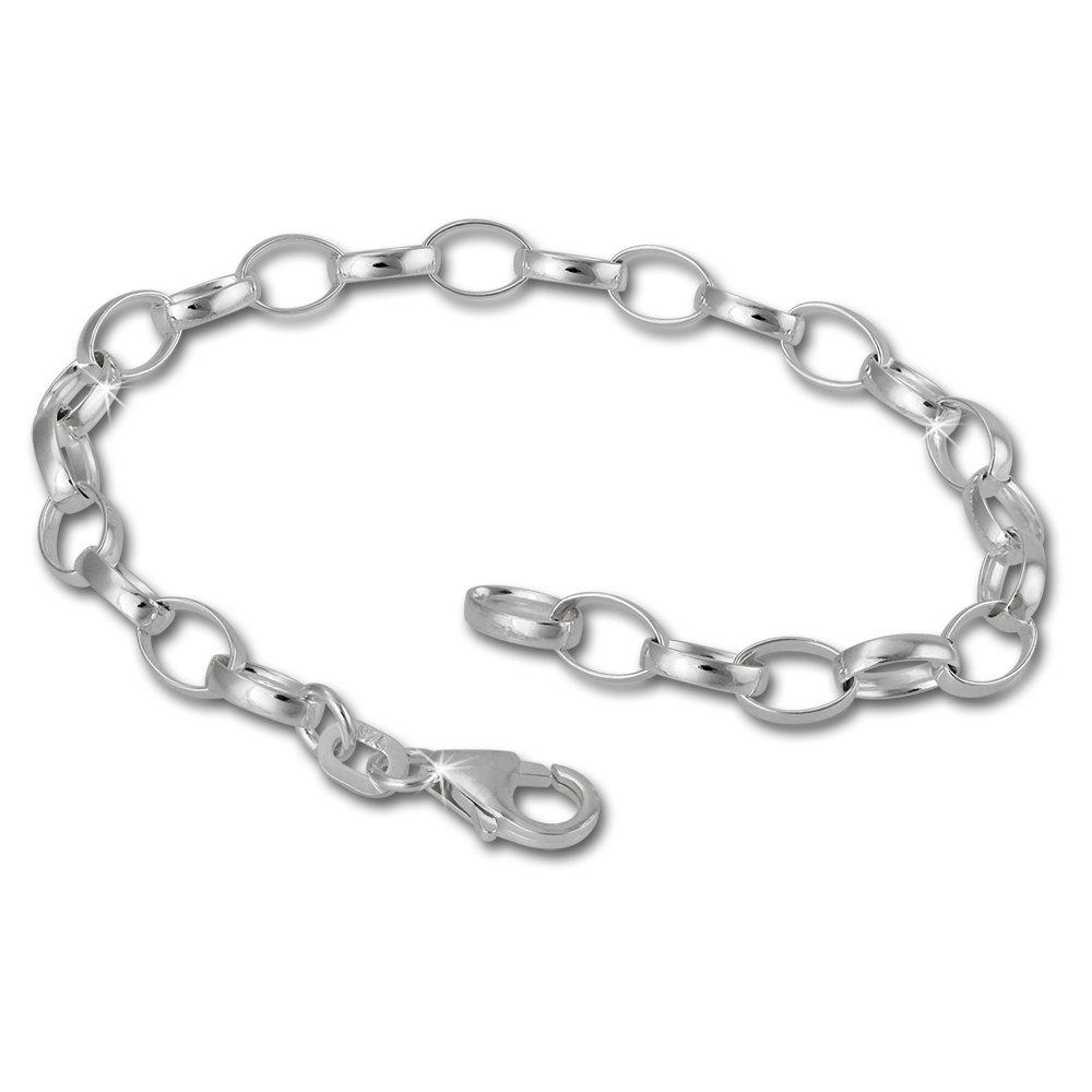 SilberDream FC0100 925 Sterling Silver Charm Bracelet, 17 cm, for Charm Pendants B002FP132M