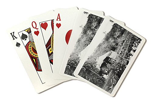 Hawaii View of Grass Hut and Taro Patch Photograph (Playing Card Deck - 52 Card Poker Size with Jokers)