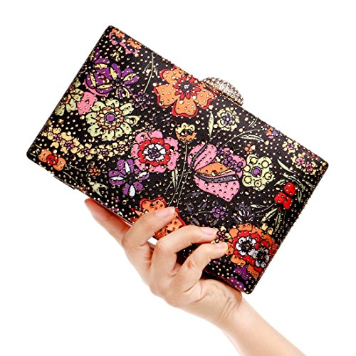 1 Banquet Purse Evening JESSIEKERVIN Vintage Multicolor Bag Handbag Pattern Clutch Dress Lady xyXqPTgwqB