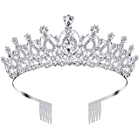 Nsiwem Tiara Corona de Cristal Corona Nupcial Tiara de Princesa Diadema Corona Tiara Tiara Nupcial Crystal Rhinestones…
