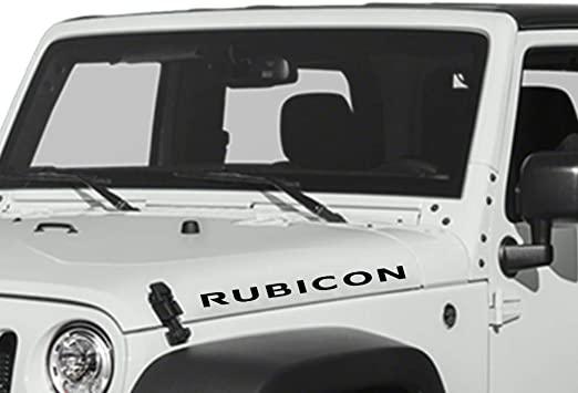 2x Set Of Jeep Wrangler Rubicon hood Truck Vinyl Stickers Decals CJ JK