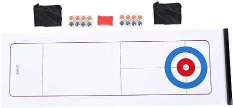 Alomejor Juego de Curling de Mesa Juego de Curling Juego de Juguetes Juegos de Mesa educativos para niños Suministros Juegos de hogar: Amazon.es: Deportes y aire libre