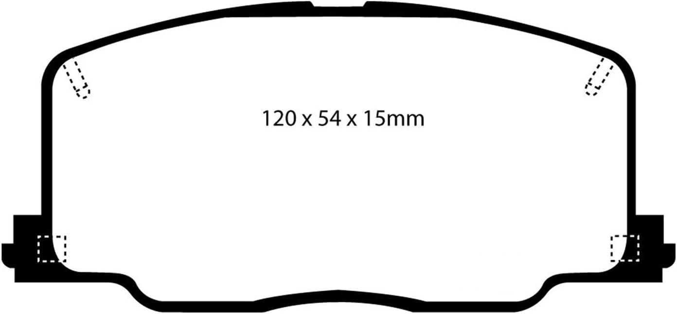 EBC DP41657R YELLOWSTUFF ULTIMATE RACE BRAKE PADS FRONT
