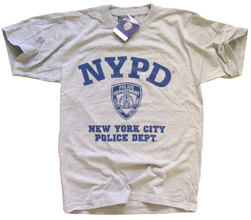 Nypd T-shirt New York Police Department Gray S