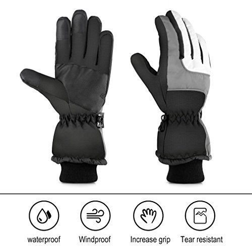Women's Waterproof Ski Gloves for Skiing, Snowboarding,Cycling and Other Winter Sports Glove with Windproof Thermal Shell & Synthetic Leather Palm – DiZiSports Store