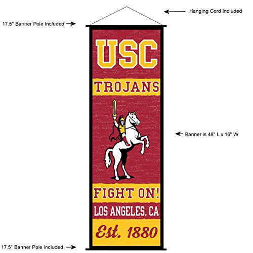 - USC Trojans Banner and Scroll Sign