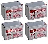 NPPower NP12-12Ah AGM SLA Battery F2 Style Terminals/(4pcs)
