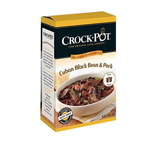 Crock-Pot Delicious Dinners, Cuban Black Bean and Pork, 12.3 Ounce (Pack of 6)