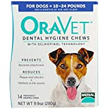 Oravet Merial Dental Hygiene Chew for Small Dogs (10-24 lbs), Dental Treats for Dogs, 14 Count