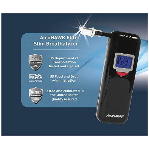 AlcoHAWK Elite Slim Digital Breathalyzer by AlcoHawk (Image #2)