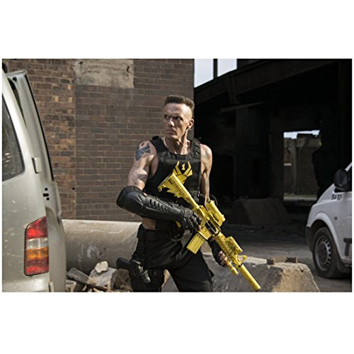 Chappie-with-Ninja-from-Die-Antwoord-Ready-to-Fight-Holding-Weapon-8-x-10-Photo