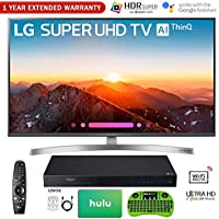 LG 4K HDR Smart LED AI SUPER UHD TV with ThinQ 2018 Model with UHD Blu-Ray Player, 1 Year Extended Warranty, Hulu $50 Gift Card, Surge Adapter, HDMI Cable & Wireless Keyboard (49 SK8000)