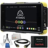 "Atomos Shogun Flame 7"" 4K HDMI/12-SDI Recording Monitor 14PC Accessory Kit. Includes SanDisk 480GB Extreme Pro Solid State Drive + HDMI Cable + Deluxe Camera Starter Kit + Microfiber Cleaning Cloth"