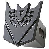 "Transformer Decepticon Black 3d Logo Trailer Metal Hitch Cover Fits 2"" Receivers"