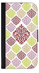 Large and Small Damasks-Pattern- Wallet Case for the APPLE IPHONE 5c ONLY!!!-NOT COMPATIBLE WITH THE IPHONE 5, 5s!!!-PU Leather and Suede Wallet Iphone Case with Flip Cover that Closes with a Magnetic Clasp and 3 Inner Pockets for Storage by kobestar