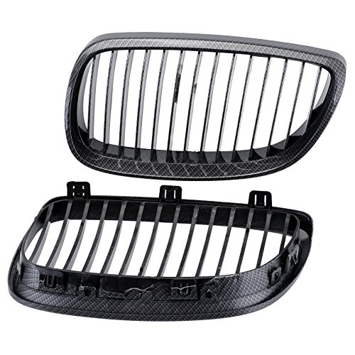 NEVERLAND Carbon Fiber Black Front Grille Grill For BMW E92 M3 2006-2009 07 (Abs Front Grill Carbon)