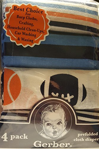 UPC 047213842645, Gerber Prefolded Cloth Diapers 4 Pack